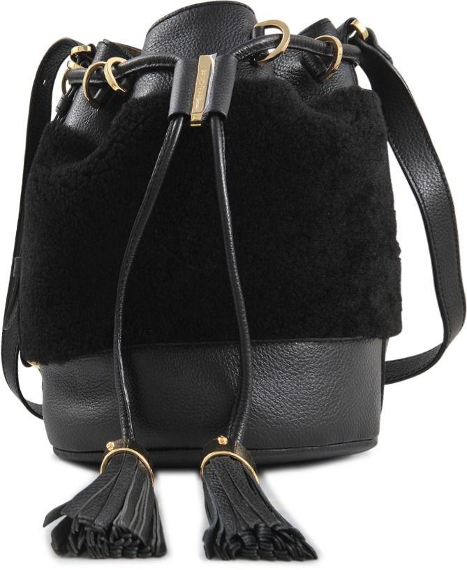 Vicki shearling Bucket Bag