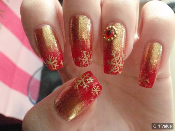70 best girl nail images on pinterest summer toenails acrylics nail corner red gold for christmas design prinsesfo Images