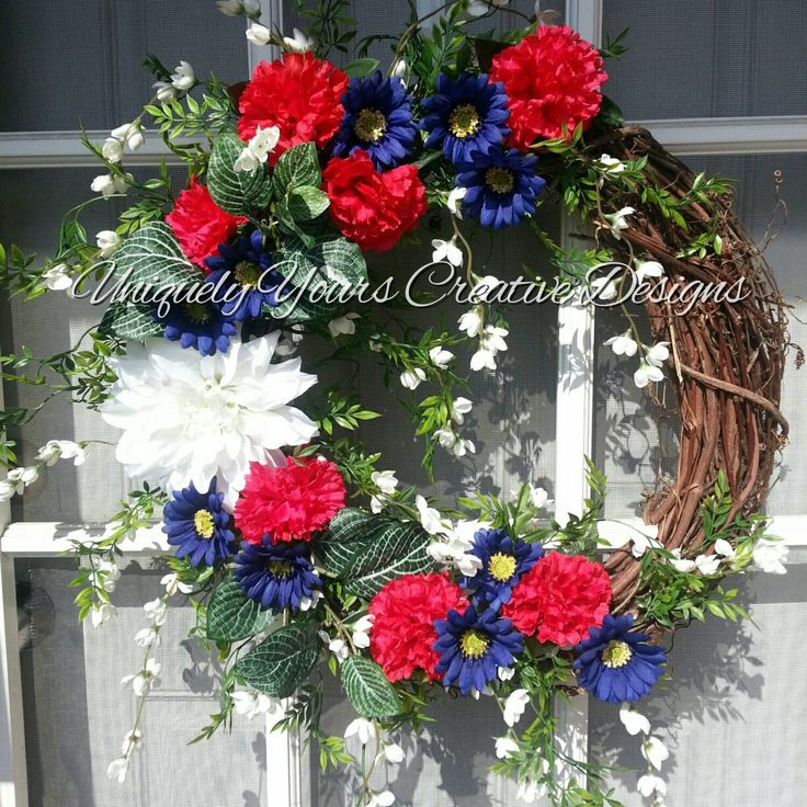 Americana Patriotic Wreath Patriotic Wreath Red White