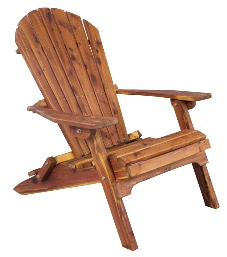Amish Cedar Wood Adirondack Folding Chair Transporting your comfy outdoor chair is a cinch with the Amish Cedar Wood Adirondack Folding Chair from DutchCrafters.