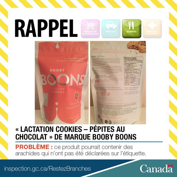 ❗ Rappel de « Lactation Cookies – Pépites au chocolat » de marque Booby Boons en raison de la présence non déclarée d'arachides http://www.inspection.gc.ca/au-sujet-de-l-acia/salle-de-nouvelles/avis-de-rappel-d-aliments/liste-complete/2017-03-22/fra/1490231383488/1490231386667