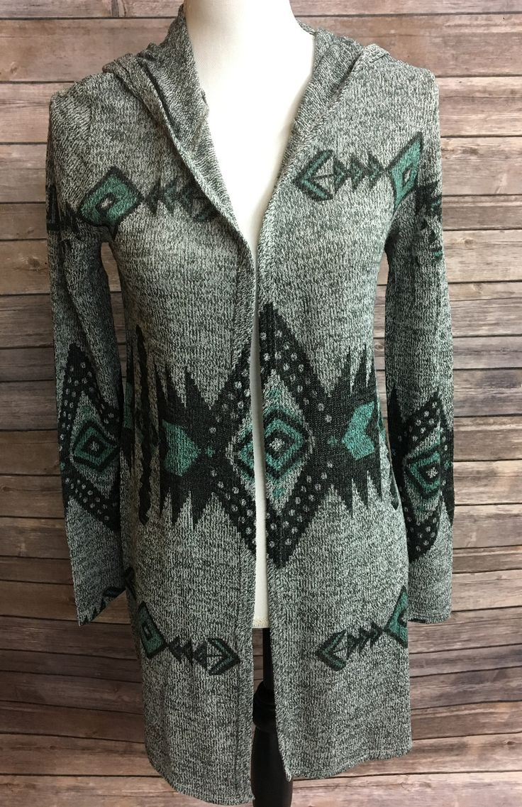 Women's Aztec Sublimation Long Sleeve Hoodie Cardigan