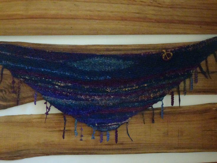 Handspun free form knitting