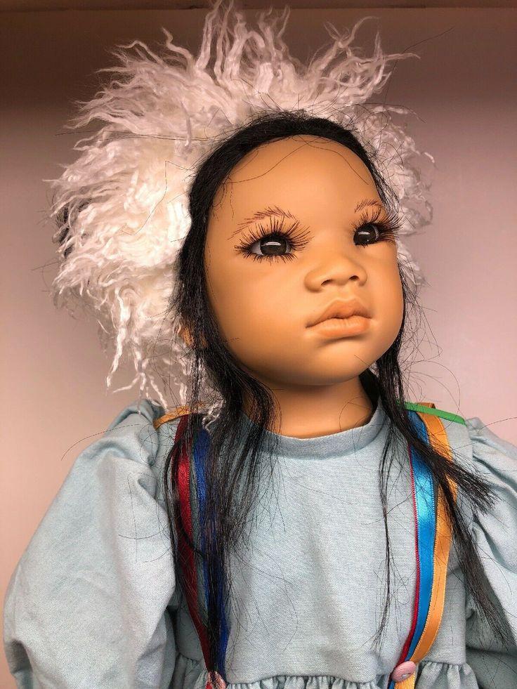 "25"" Himstedt Beautiful ""Kima"" Adorable Doll Black"