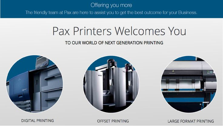 Pax Printers Provides Digital, Offset and Large Format Printing Services in Dandenong South Area. The product range includes Business Cards, Letterheads, NCR or Carbonless Books, Presentation Folders, Envelopes, Flyers, Brochures, Catalogues, Posters, Banner Stands or almost anything that is printed on paper! For impartial and obligation advice call on 03 9706 4699.