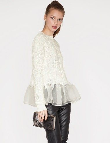 Organza luxe sweater