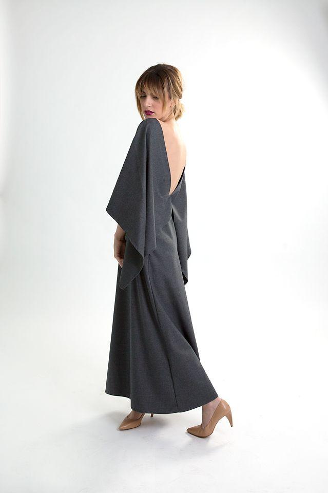 Grey cashmere dress.
