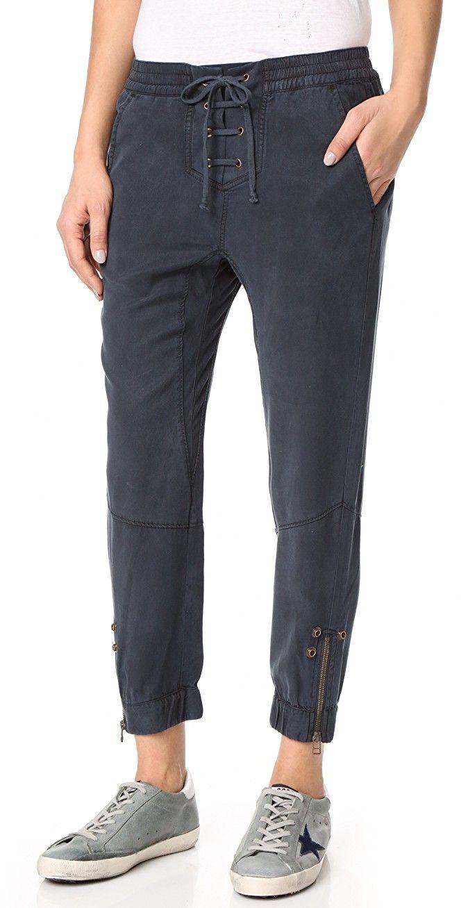 Pam & Gela Lace Up Closure Pants | SHOPBOP