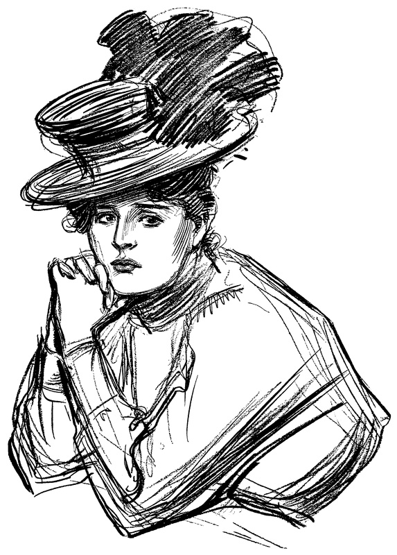 how to draw a gibson girl