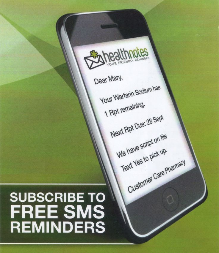 Did you know that you can get FREE SMS Reminders when your next script is due? You can sign up for our FREE, friendly reminder service today!