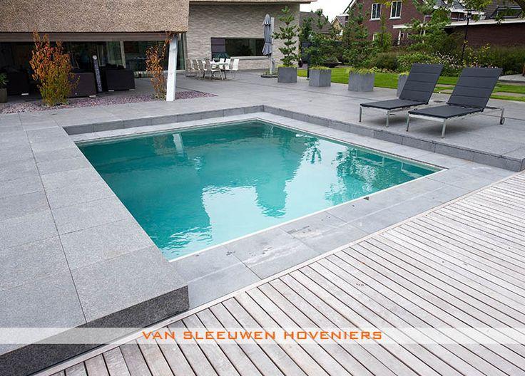 Tuin met zwembad piscine pinterest tuin tuinontwerp for Zwembad leggen