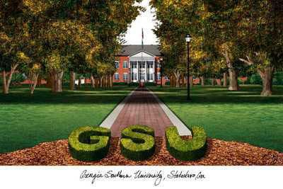 georgia southern university | Georgia Southern University Campus Artwork Illustrations Posters ...