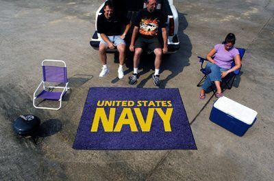 US Navy Emblem Logo Tailgating Rug 5' x 6' Tailgate Mat