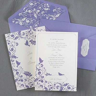 English Garden Flowers And Beautiful Birds Adorn This Two Sided Invitation  Card.