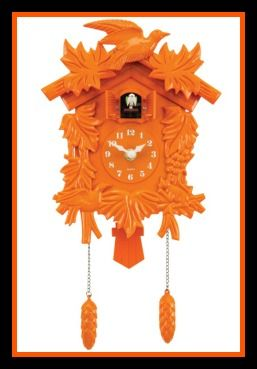Orange Cuckoo Clock