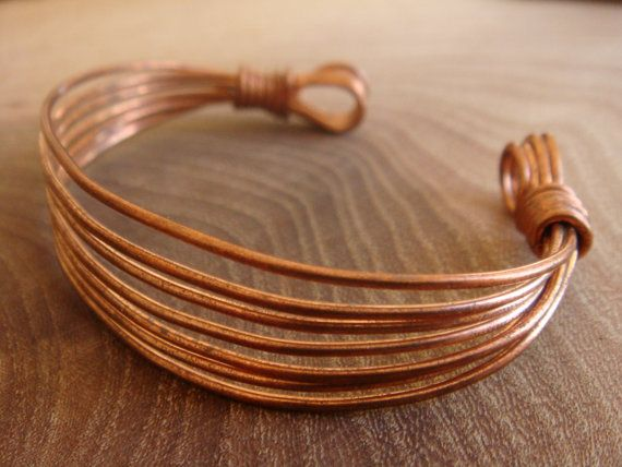 Items similar to Copper Bracelet / Copper Bangle / Handmade Wire Wrapped Copper Bracelet [Copper Jewellery by Derek McQueen] on Etsy