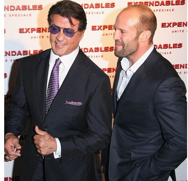 Sylvester Stallone & Jason Statham David August Couture Suits Celebrity Red Carpet