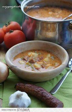 Zupa cygańska z boczkiem Składniki: 1,5 l bulionu dro…