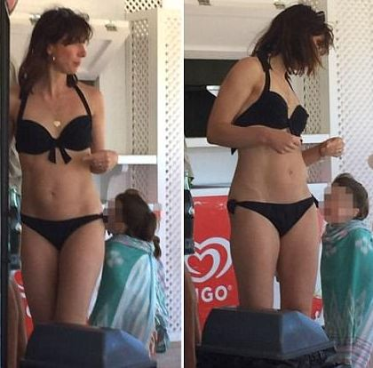 She has spent the past few months travelling the country, sharing her husband's punishing Election schedule. So there's one question everyone is asking: just how did Samantha Cameron find the time to get this beach-ready? The 44-year-old showed off her slim, toned figure as she spent a few days unwinding on the Spanish party island of Ibiza. She was spotted at the public Cala Nova Beach