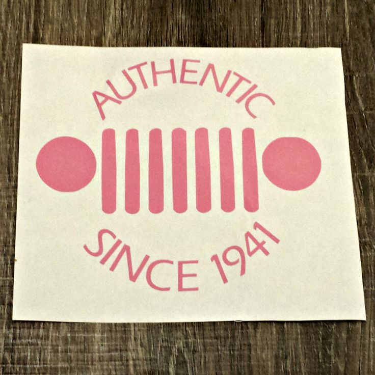 Jeep Decal / Jeep Wrangler / It's a Jeep Thing / Authentic Since 1941 / Jeep Sticker / Jeep Renegade by MommyMusketeerDesign on Etsy