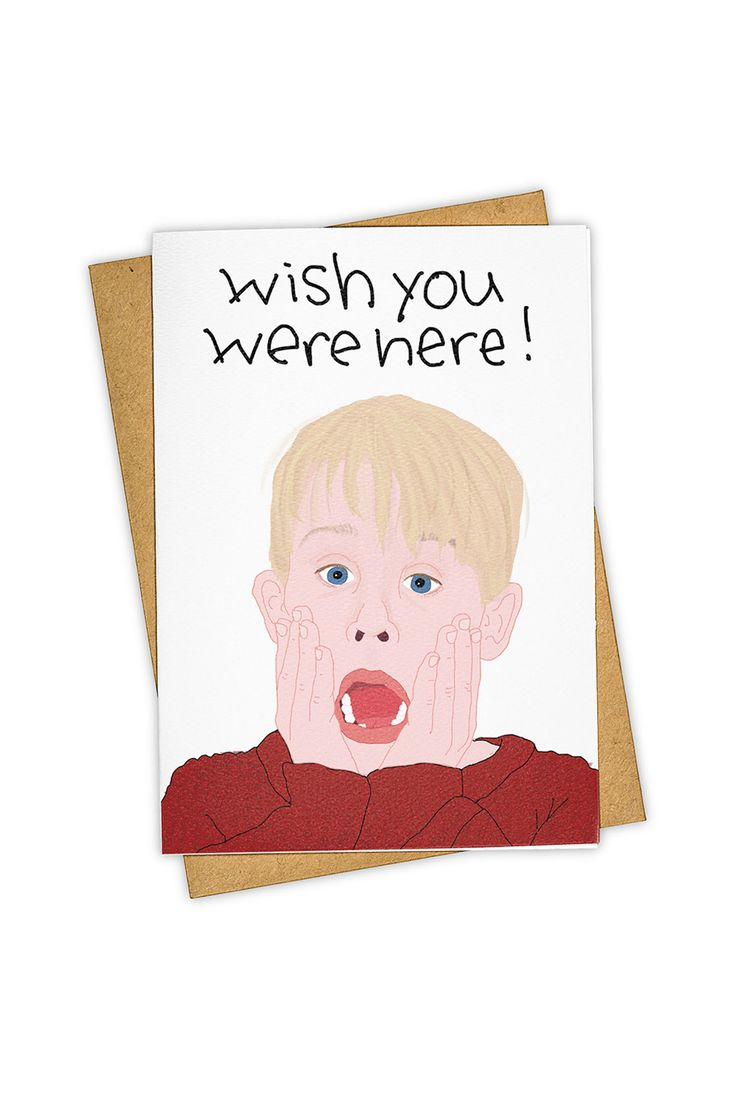 Perfect christmas card for a person, who can not be at the same place where you are at christmas!  Buy TAY HAM - Single Card - Wish You Were Here by TAY HAM from NoteMaker.com.au & receive FREE shipping on Aust orders over $99 & I/N orders over $199
