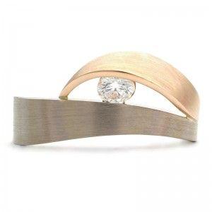WAVE ENGAGEMENT RING - GOLD/0.20CT DIAMOND - VINCENT VAN HEES