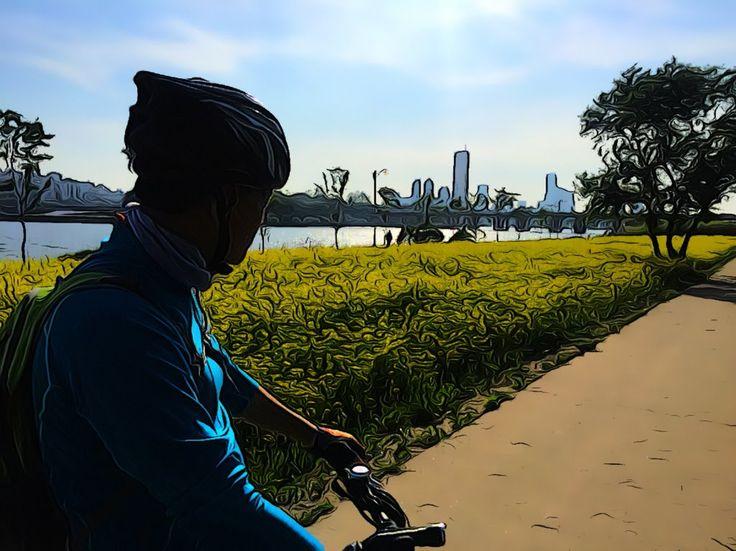 반포대교 마포나들목 한강 공원 자전거 타기 4k 동영상2편 Han River Bike Riding