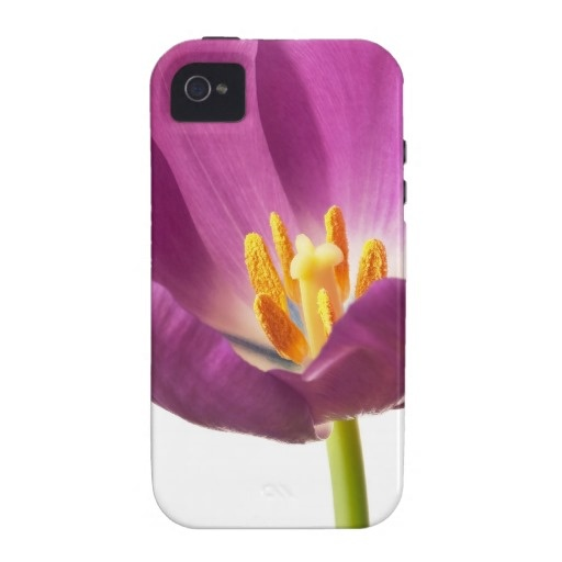 $44.95 IPhone 4 Vibe Case - Purple Tulip Template - Blank Vibe iPhone 4 Cover