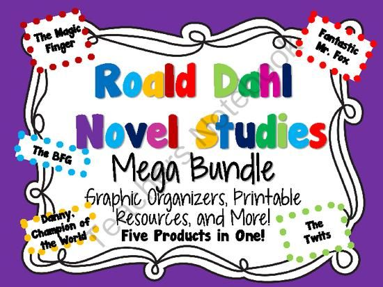 Roald Dahl Novel Studies Mega Bundle! from KidsForever on TeachersNotebook.com -  (276 pages)  - Inside you will find five of my top-rated novel studies on books from Roald Dahl: The Twits, Danny, Champion of the World, The Magic Finger, The BFG, and Fantastic Mr. Fox.