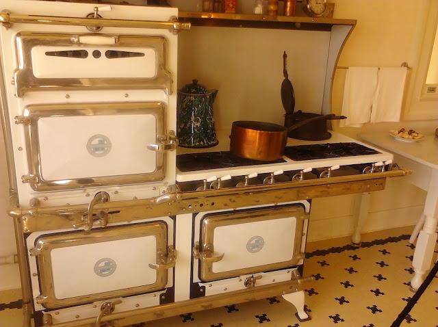 Antique stove in kitchen, Pittock Mansion Portland Oregon