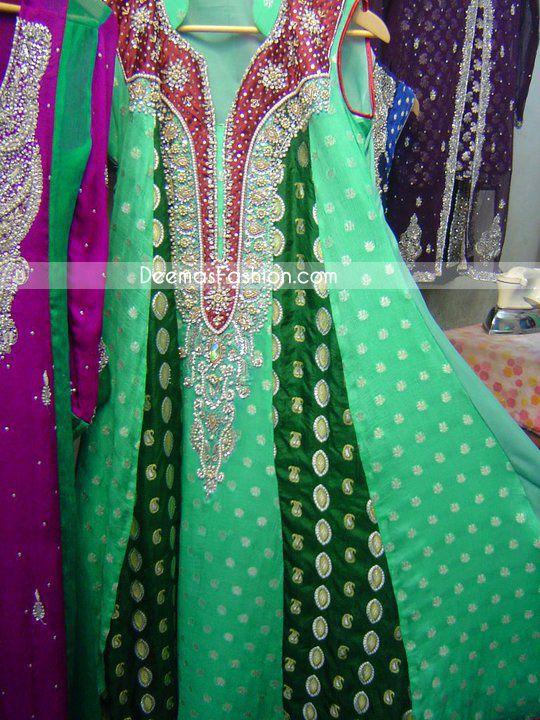 latest pakistani fashion grey designers casual dress 2010