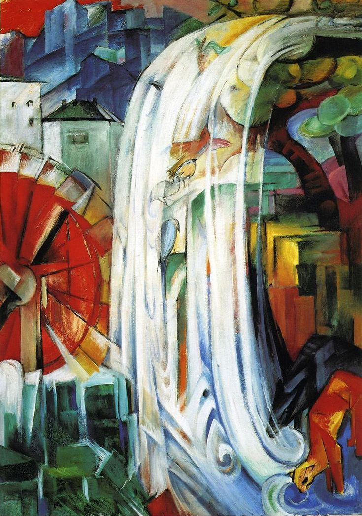Franz Marc, The Enchanted Mill, 1913  Saw this displayed in Chicago, one of my favorites.