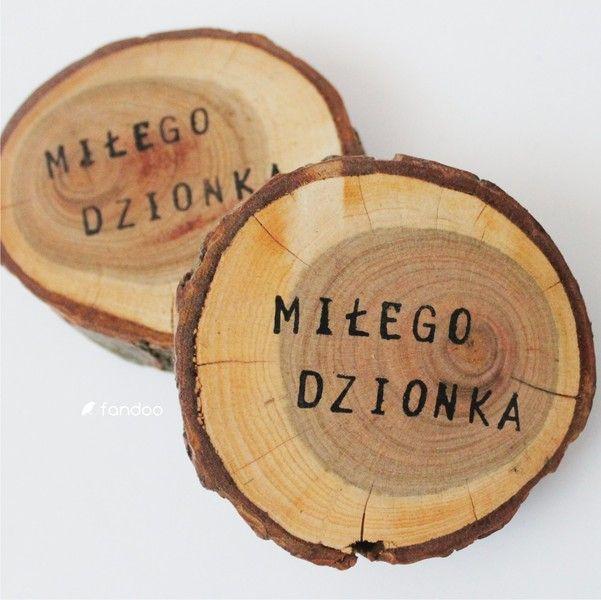 Podkładka drewniana (komplet 2 szt) - fandoo - Podkładki i serwetki