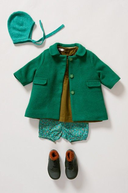 .boys green coat