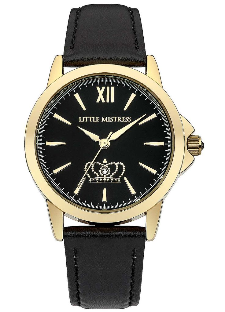 Little Mistress Ladies Black Strap Watch