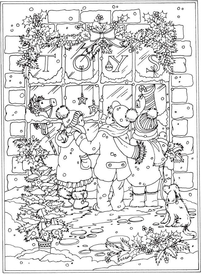 Welcome to Dover Publications 	 From: Creative Haven Winter Wonderland Coloring Book