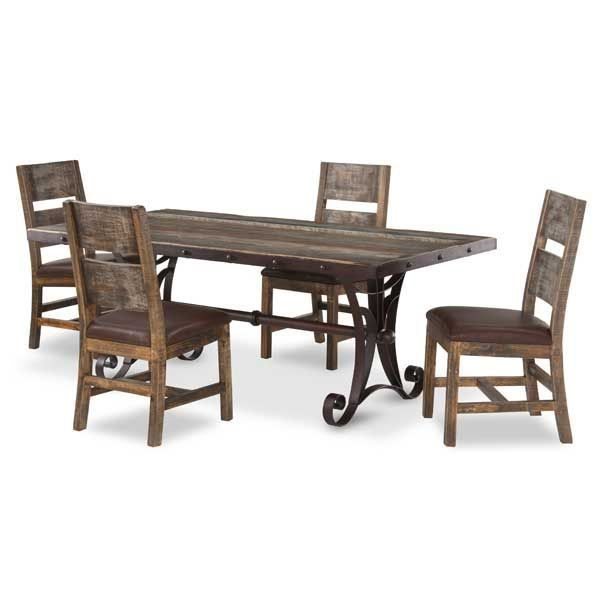 Antique 5 Piece Dining Set Round By Artisan Home By IFD Is Now Available At American  Furniture Warehouse.