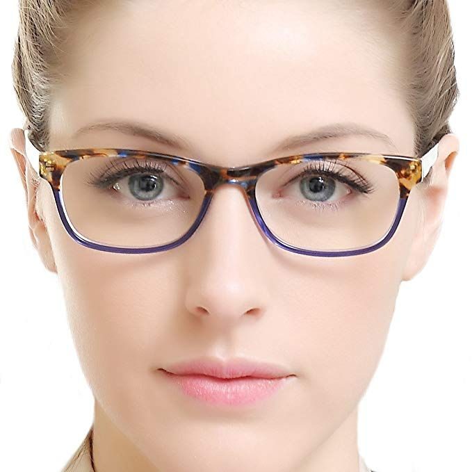 b73e451a8 OCCI CHIARI Rectangle Stylish Women Eyewear Frame Non-prescription Optical  Eyeglasses With Clear Lens Review