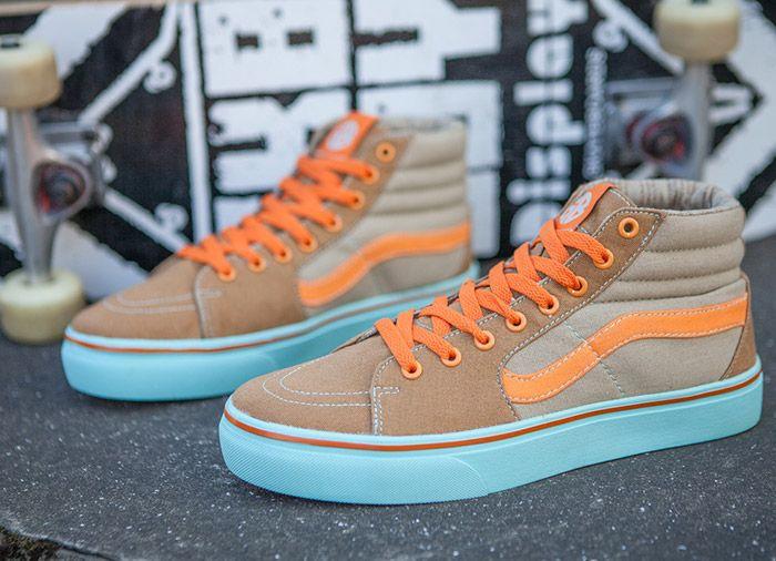 b8ffb26b3f Vans SK8 Hi GB Tawny Orange Skate Shoes  Vans