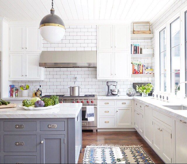 White Cabinets Gray Subway Tile Kashmir White Granite: 17 Best Ideas About Blue Grey Kitchens On Pinterest
