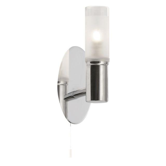 1651CC BATHROOM - nástenné svietidlo - chróm+mrazené sklo
