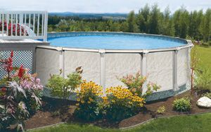 How to replace an above ground pool vinyl liner random diy for Above ground pool siding ideas