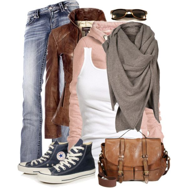 """Hooded Sweatshirt & Converse"" by wishlist123 on Polyvore"