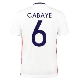 2015 France Soccer Team Away White CABAYE #6 Replica Jersey [A966]. Nike ...