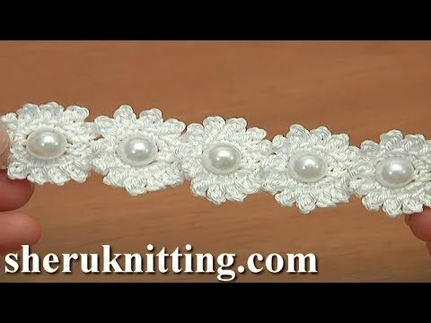 Crochet Mini Bead Flower String Tutorial