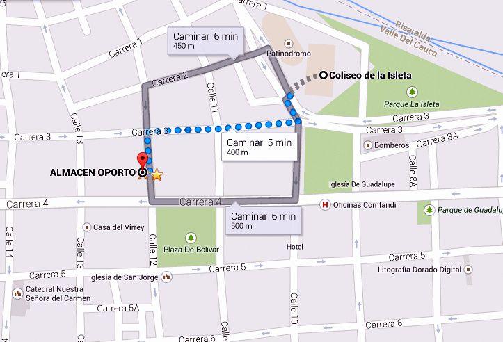 Vía Coliseo De la Isleta #Cartago @ALMACENOPORTO Calle 12 # 3-66 L 117 CC Villa De Robledo, Cartago, Valle www.almacenoporto.com.co Tel: 210 2525