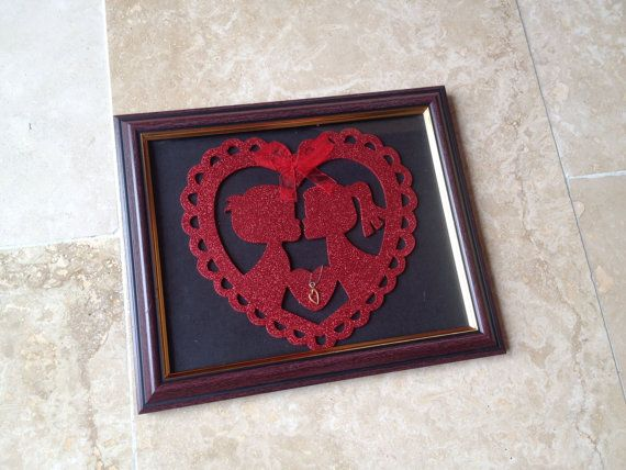 Love & Kisses Picture Frame Wall Hanging Wall Art by IantheFrames