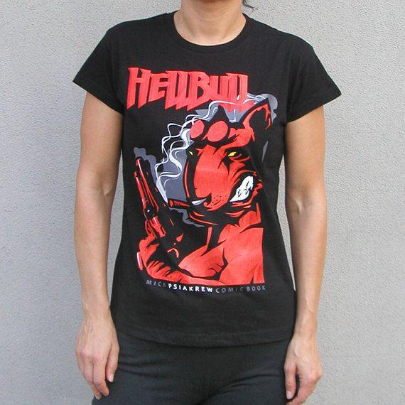 Women's T-shirt Dog T-shirt Bull Terrier Hellbull  by PSIAKREW