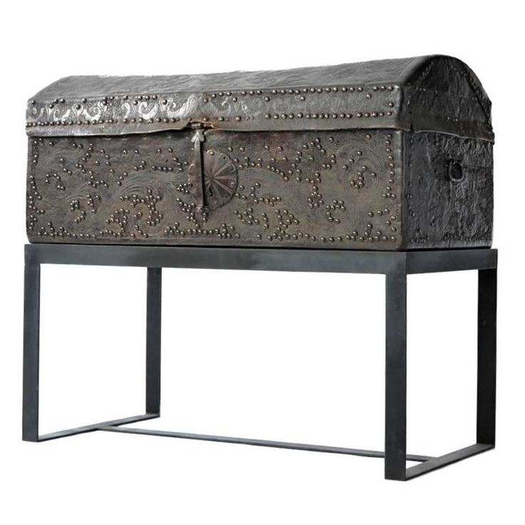 Spanish Colonial Leather Trunk 1