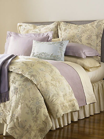 swanky outlet loving the bedding and more here sferra sonya champagne floral king duvet cover new